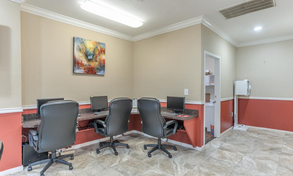 Business Center at Sutter Ranch Apartments in Houston, TX