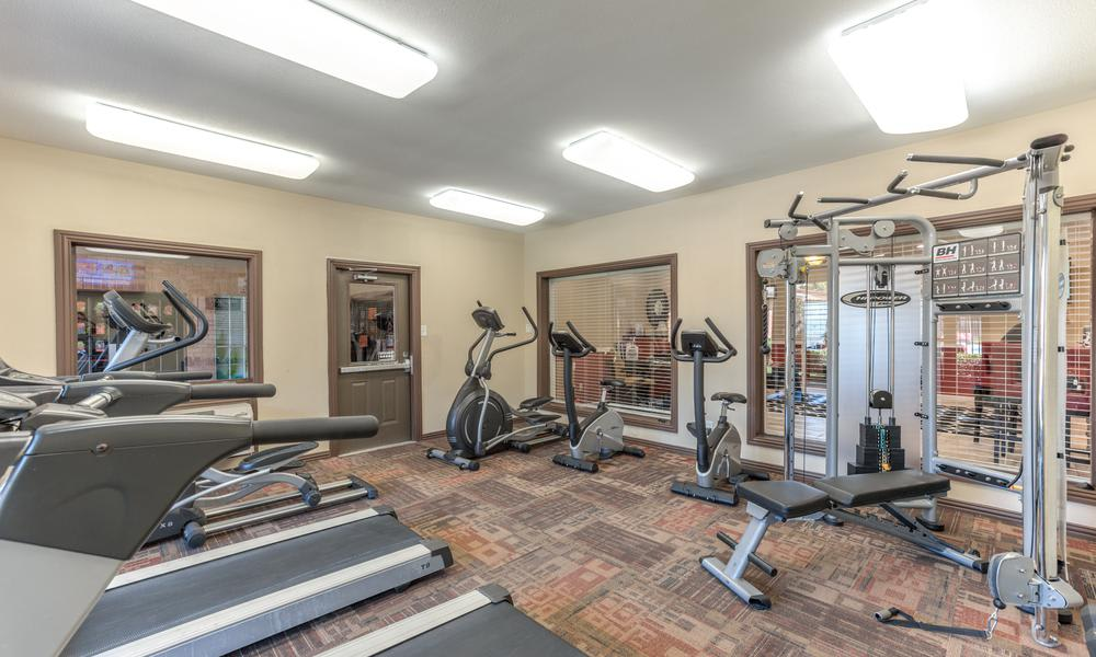 Fitness Center at Sutter Ranch Apartments in Houston, TX