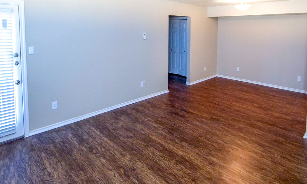 Creekside Apartments offers faux hardwood floors