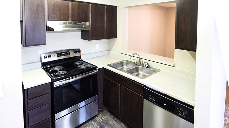 Kitchen at Creekside Apartments