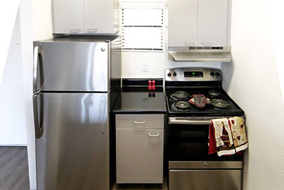 Upgraded kitchens at Lofts on Hulen