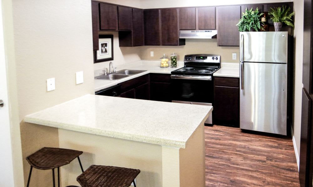 Fully equipped kitchen at Enclave at Cityview