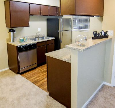 Model kitchen at Savoy Apartments