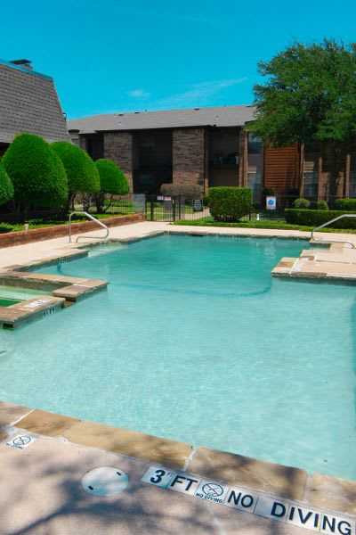 Community pool at Savoy Apartments