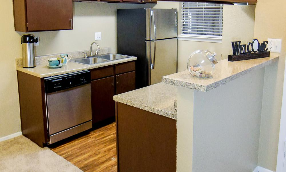 Fully Equipped Kitchen Room at Savoy Apartments in Fort Worth