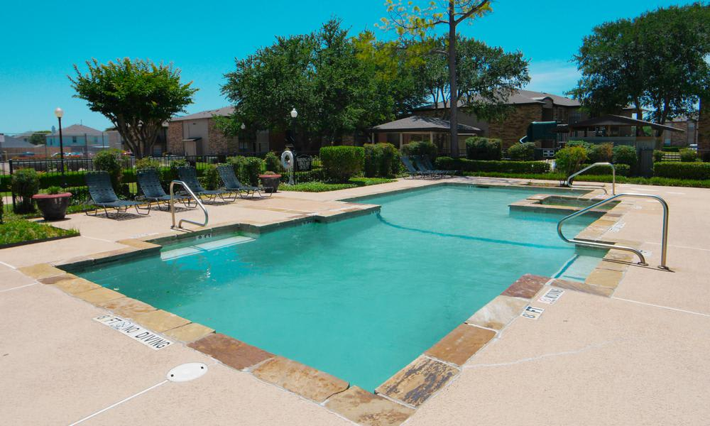 Swimming Pool at Savoy Apartments in Fort Worth