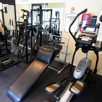 Fitness center at Cambury Place Apartments