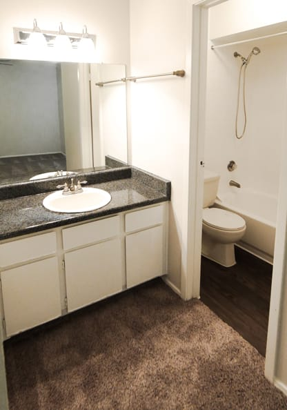 Bathroom at apartments in Cambury Place Apartments