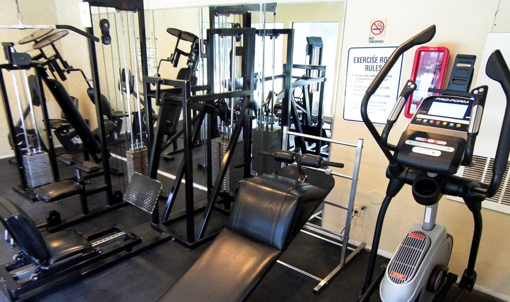Living at Cambury Place Apartments includes a fitness center