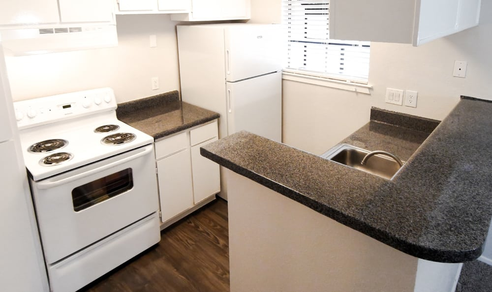 Kitchen at Cambury Place Apartments in Houston