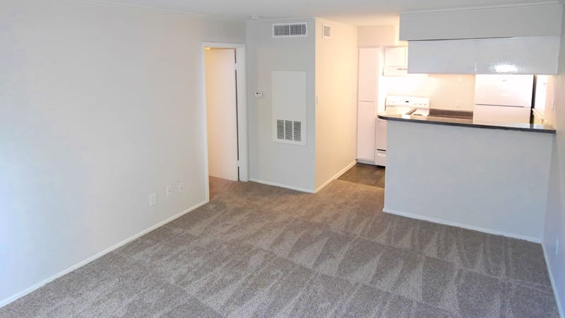Open floor plan space at Cambury Place Apartments in Houston
