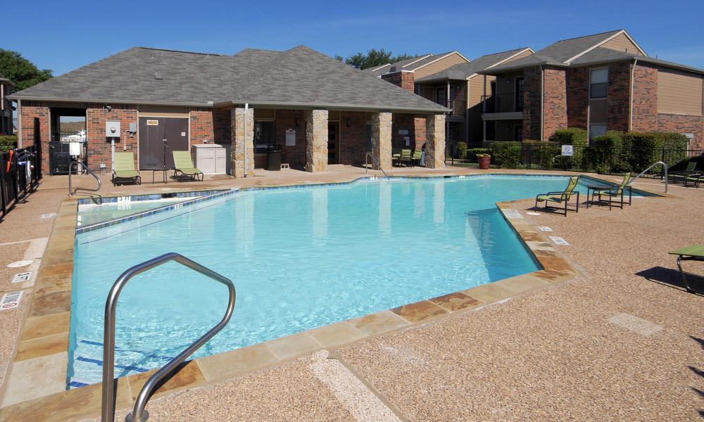 Our apartments in Fort Worth, TX have a swimming pool that's great for entertaining