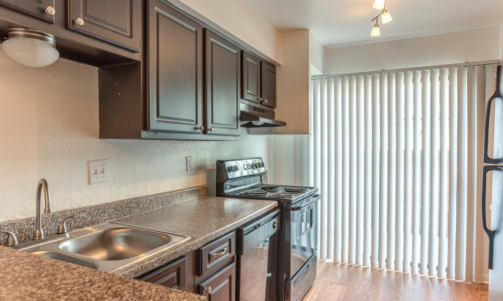 Fully Equipped Kitchen Room at The Bridge at Shady Hill in Baytown, TX