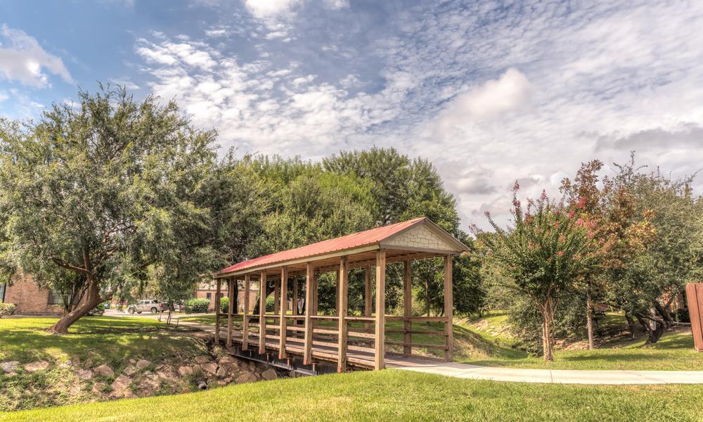 Wooden Bridge at The Bridge at Shady Hill in Baytown, TX