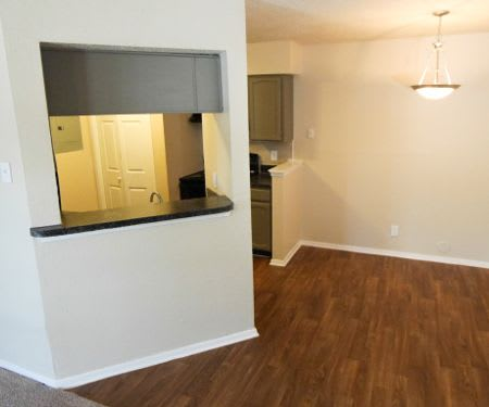 Hardwood floors at Mission Hill in Fort Worth