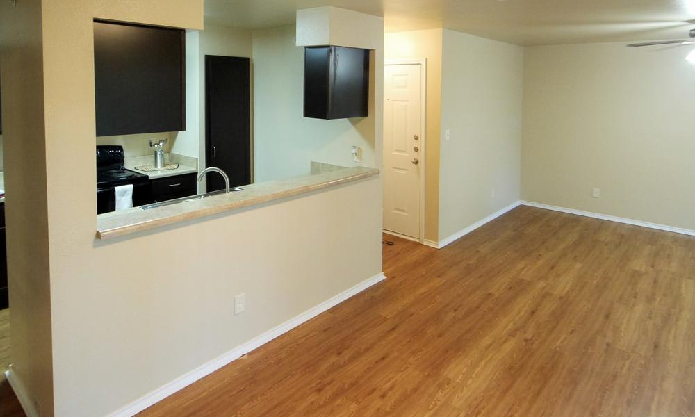 Tuscany Apartments offers hardwood floors in Fort Worth, TX