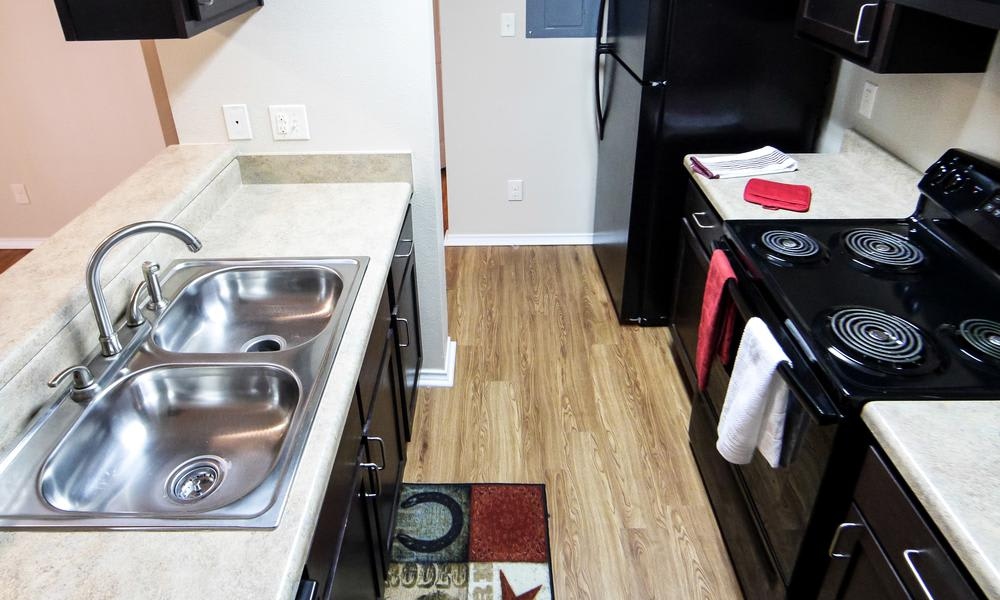 Our apartments in Fort Worth, TX showcase a modern kitchen