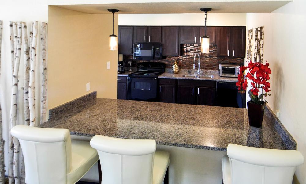 Luxury kitchen at Tuscany Apartments in Fort Worth, TX
