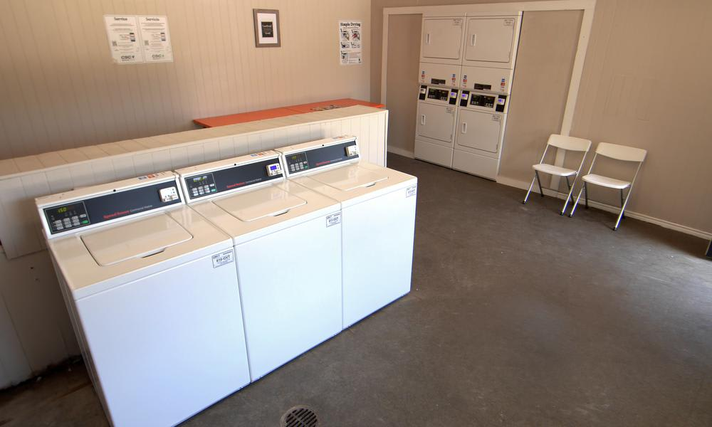 Tuscany Apartments offers a spacious laundry facility in Fort Worth, TX