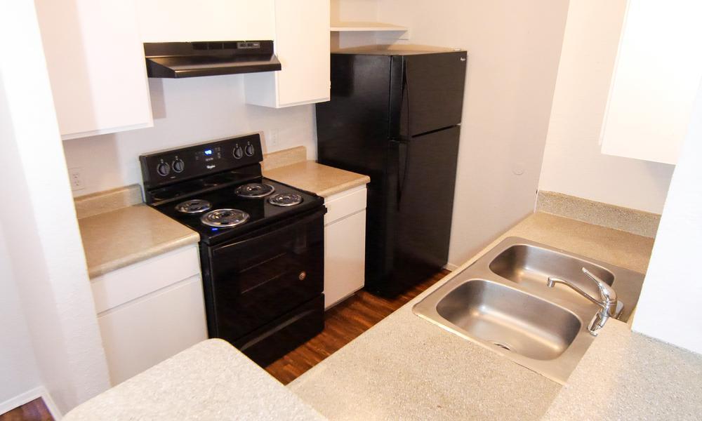 Modern kitchen at Madison Park in Fort Worth, TX