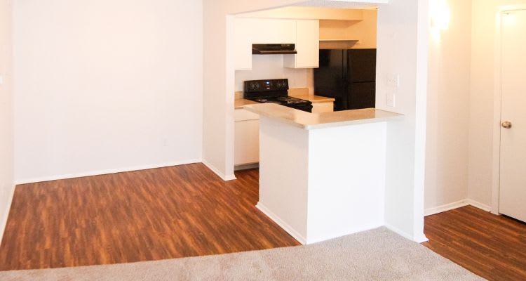 Renovated hardwood floors in our Fort Worth, TX apartments
