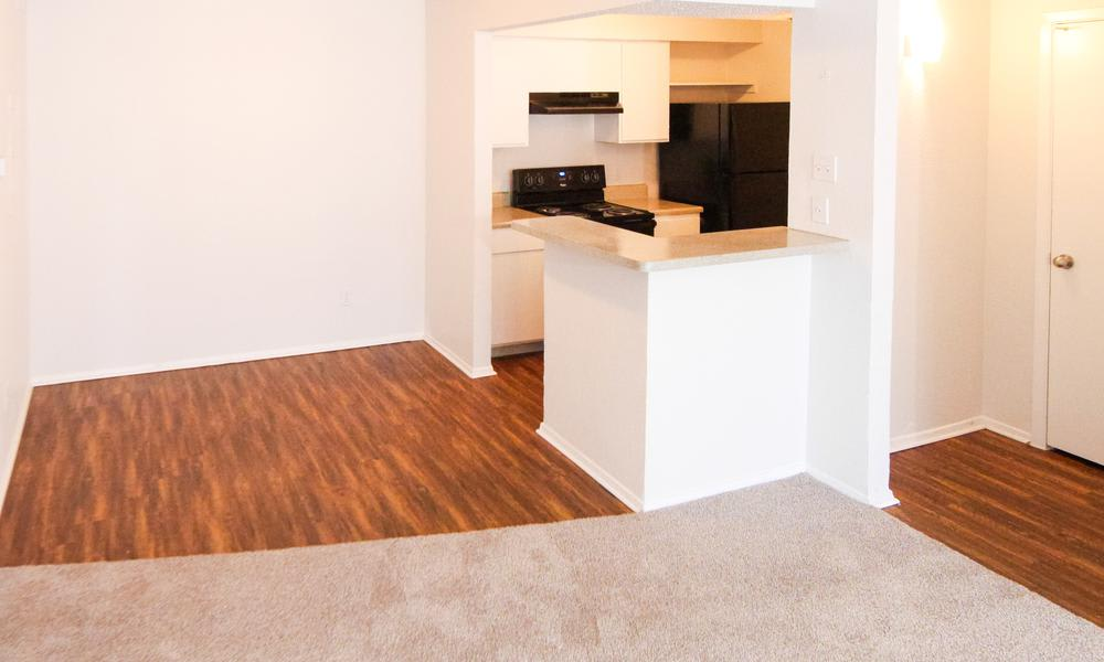 Hardwood floors at apartments in Fort Worth, TX