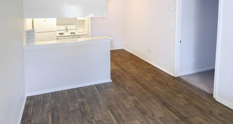 Hardwood floors at apartments in Houston, TX
