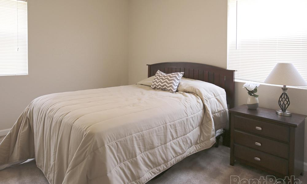 Our apartments in College Station, TX showcase a beautiful bedroom