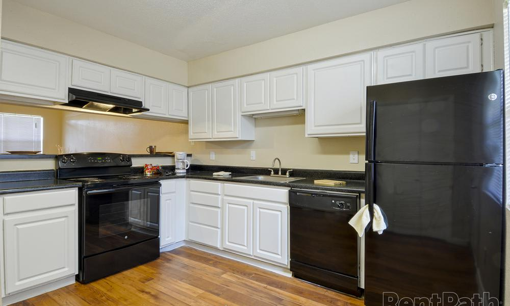 Fully Equipped Kitchen at Renaissance Park Apartments in College Station, TX