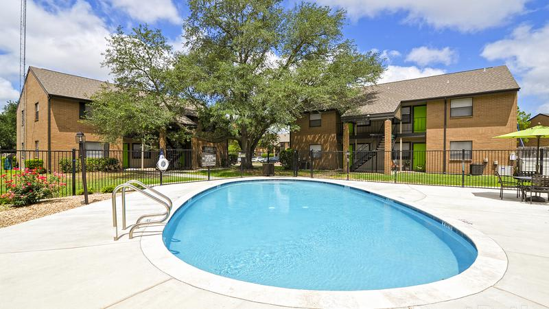 Pool at Renaissance Park Apartments in College Station