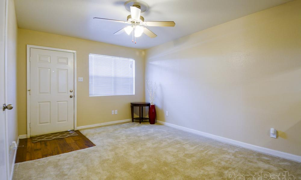 Modern living room at Renaissance Park Apartments in College Station, TX