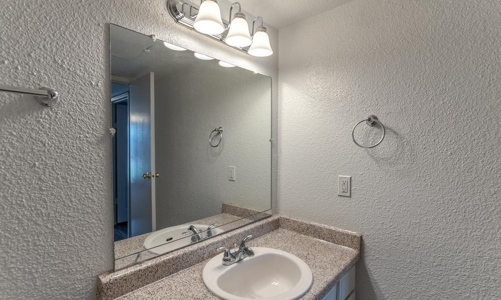 Bathroom Mirror at Element Apartments in Houston, TX