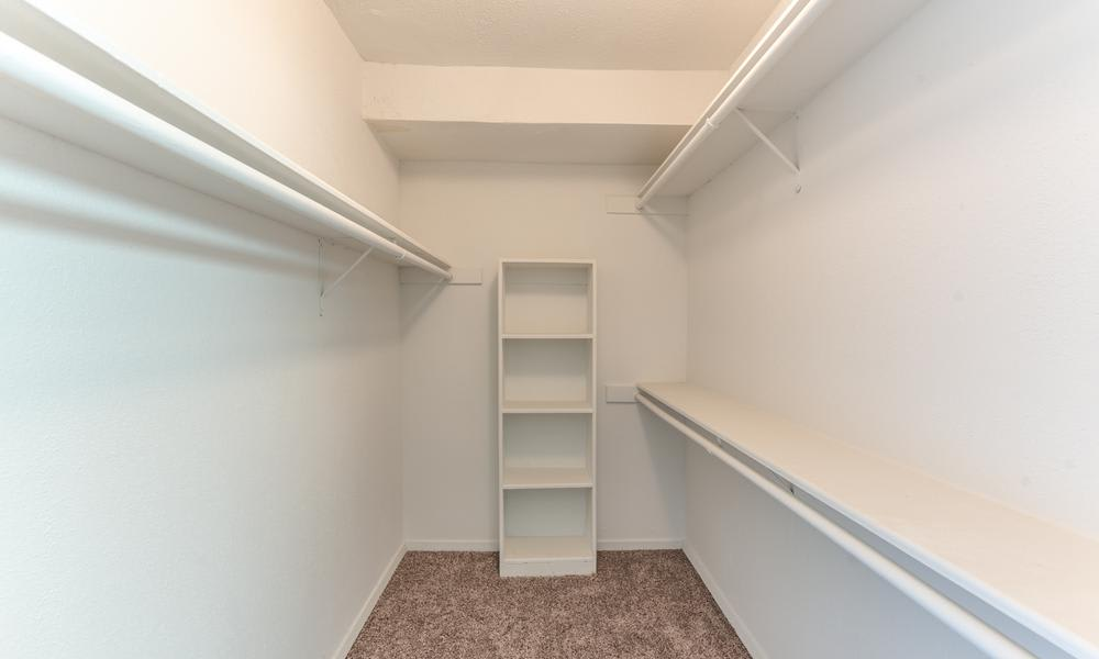 Empty Closet at Element Apartments in Houston, TX