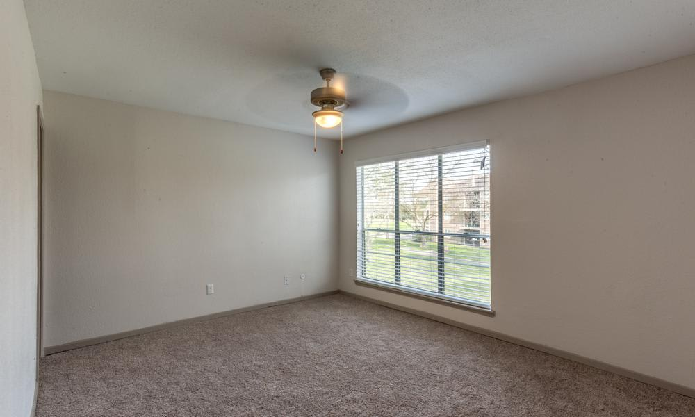 Empty Room With Large Window at Element Apartments in Houston, TX
