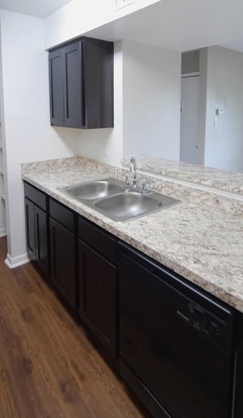marble countertops at apartments at Newport at Clear Lake in Houston
