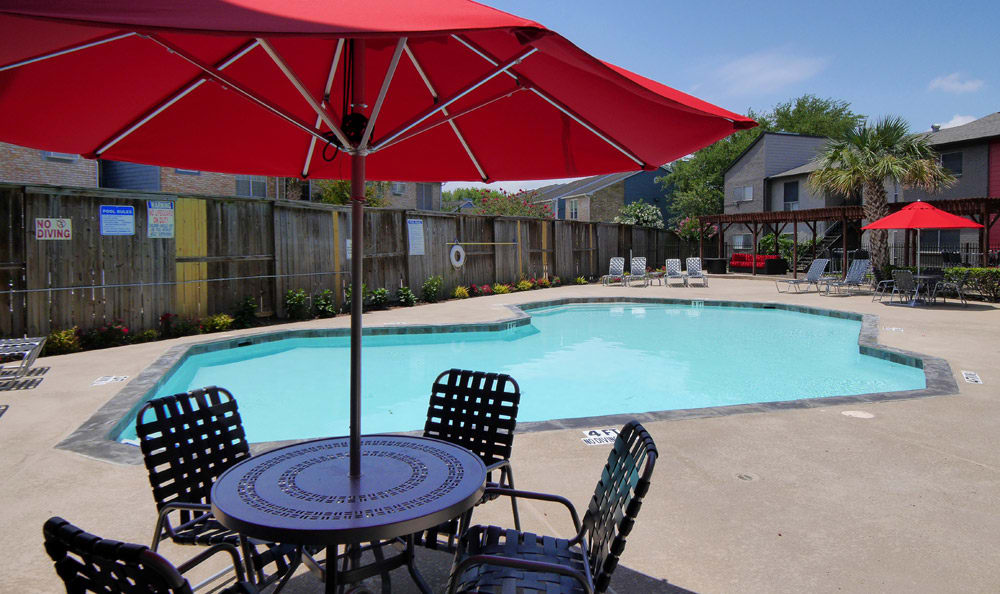 Living at Newport at Clear Lake includes a pool