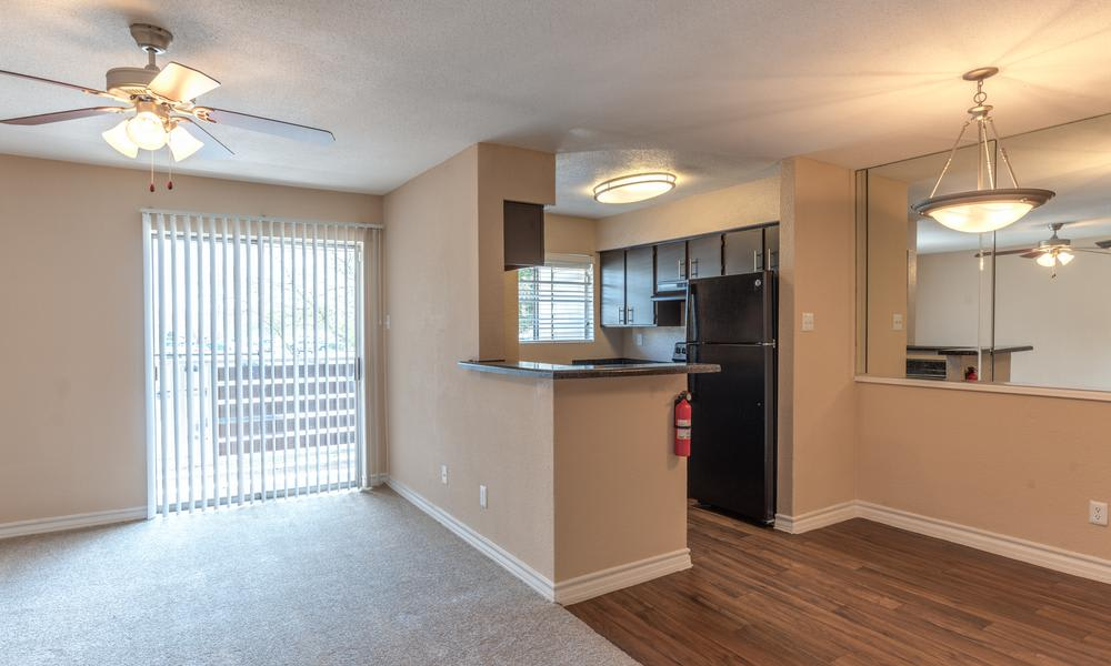 Living Kitchen Room Combo at Verano Apartments in Houston, TX