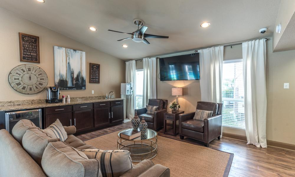 Spacious Living Room at Verano Apartments in Houston, TX