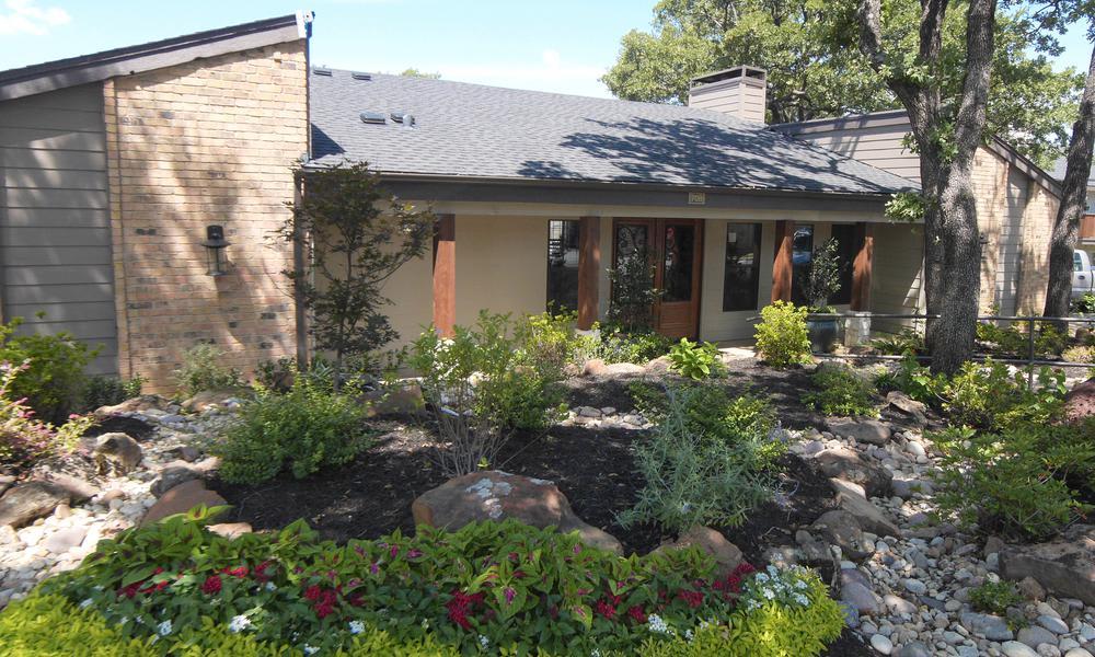 Beautiful Garden at Wyndham Pointe in Fort Worth, TX