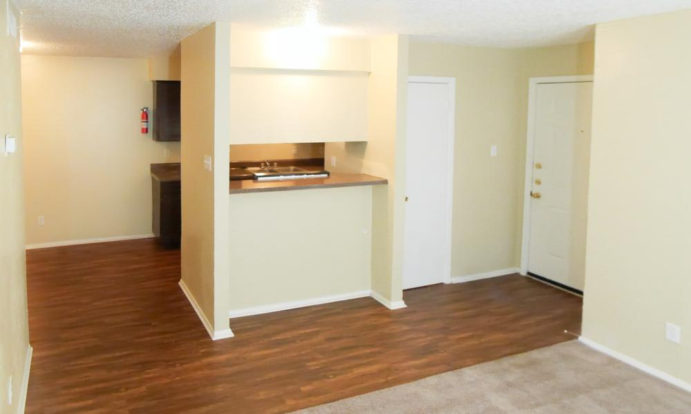 Wyndham Pointe in Fort Worth, TX offers apartments with hardwood floors
