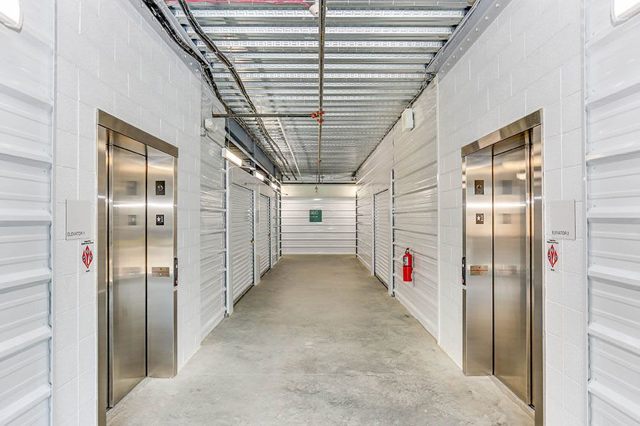 Our storage facilities have elevators and wide hall ways