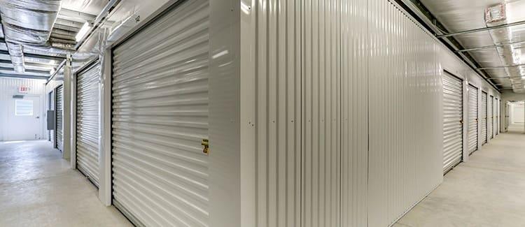 Wide hallways at Happy Boxes Self Storage in Portsmouth, Virginia