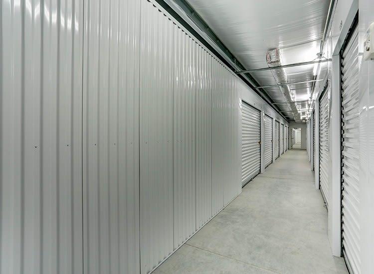 Wide hallways at Self Storage in Portsmouth, Virginia