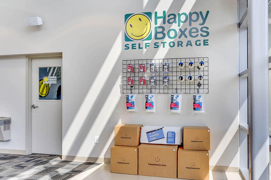 Storage Supplies at Happy Boxes Self Storage in Newport News, Virginia