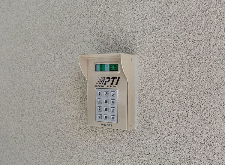 Access keypad for secure Self Storage in Newport News, Virginia