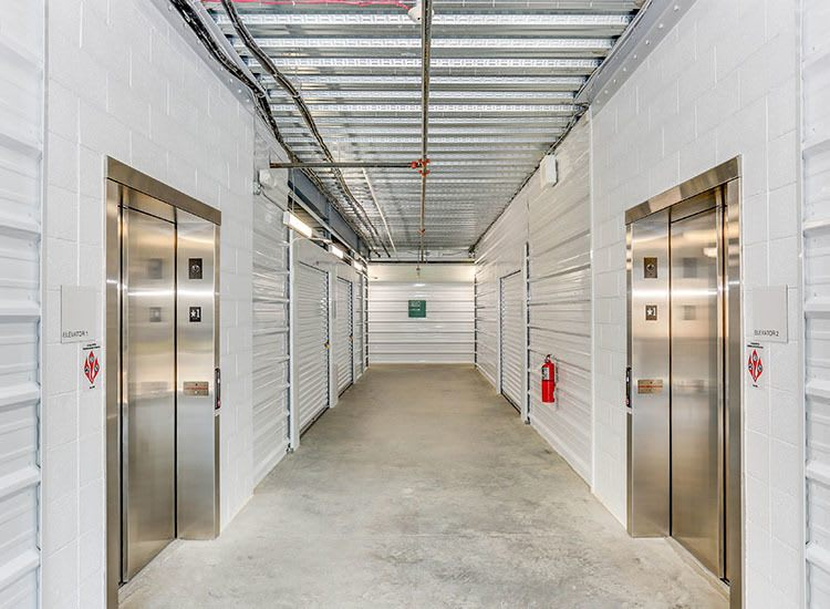 Elevators at Self Storage in Newport News, Virginia