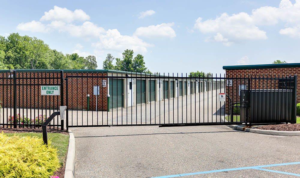 Access Gate At Self Storage In Hampton Virginia