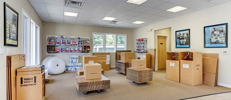 Moving supplies at Happy Boxes Self Storage in Hampton, Virginia