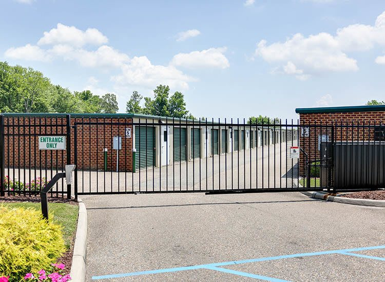 Access gate at Self Storage in Hampton, Virginia