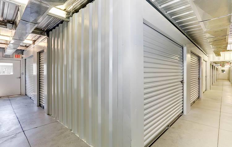 Wide hallways at Happy Boxes Self Storage in Kitty Hawk, North Carolina